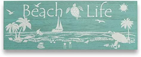 Beach Wall Art Coastal Decor for Home Tropical Inspired Beach Life Sea Turtle Starfish Seashell product image