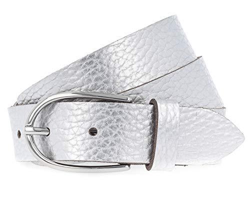 Vanzetti Damen Gürtel Metallic 3cm silber 85