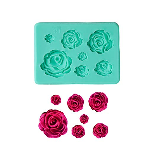 Marginf 3D Rose Flower Shape Silicone Soap Mold Form Chocolate Cake Mold Handmade Diy Ca