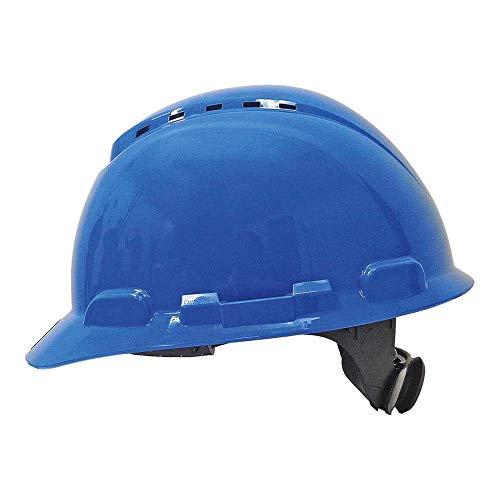 3M H700NBB - H700 Casco con ventilación, azul, arnés de ruleta