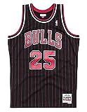 Mitchell & Ness Steve Kerr Chicago Bulls 1995-96 Men's Black Pinstripe Swingman Jersey (XX-Large, 2X)
