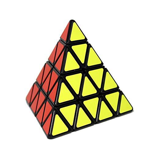 Gobus ShengShou 4x4 Pyraminx Pyramid Triangle Zauberwürfel Speed Puzzle Cube Schwarz