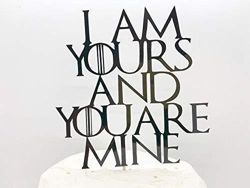 Ik ben de jouwe en jij bent de mijne bruiloft taart topper