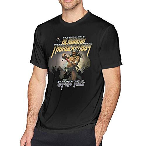Personalidad de la Moda de los Hombres de algodón Alabama Thunderpussy Open Fire Camisetas de Hombre Suave de Manga Corta Tops para Hombre Top Personalizado de Manga Corta S