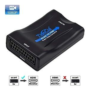 Tiancai Scart a HDMI Convertidor Full HD 1080P para NTSC PAL to HDTV XBOX PS3 BLU-RAY DVD SKY