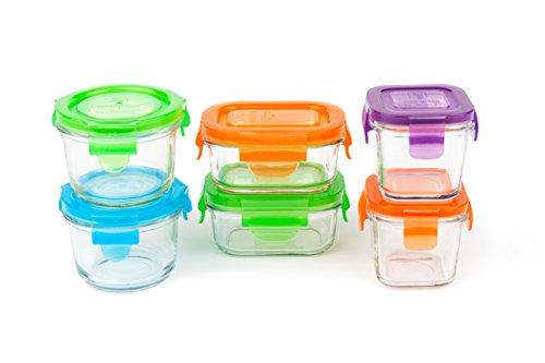 Wean Green - Conjunto de contenedores de alimentos, vidrio, 6 uds.,...