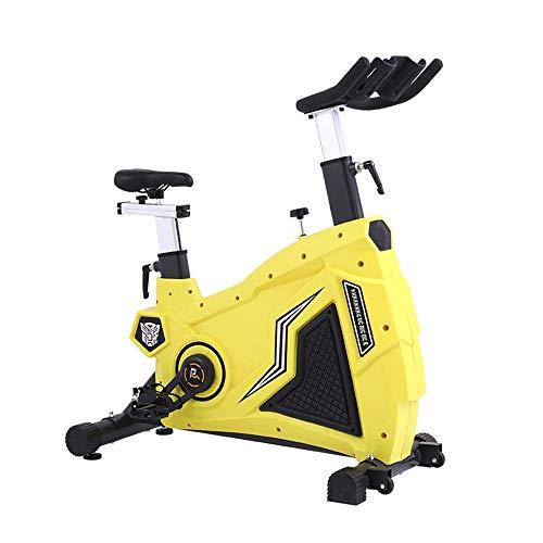 Bicicletas estáticas Bicicleta estática para interiores ultra silenciosa Ejercicio en casa con un cómodo cojín Asa de asiento ajustable Adecuado para gimnasio en casa Aeróbico (deporte interior)