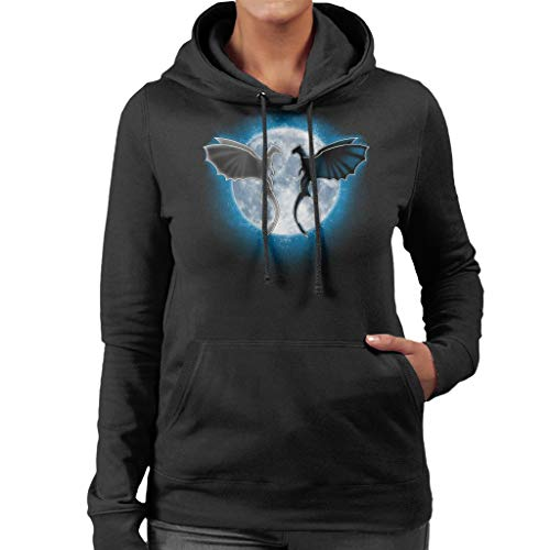 Draken Maan Vrouwen Hooded Sweatshirt