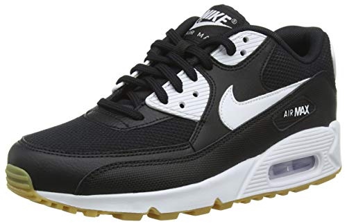 Nike Air Max 90, Scarpe Running Donna, Multicolore (Black/White/Gum Light Brown/White 055), 38 EU