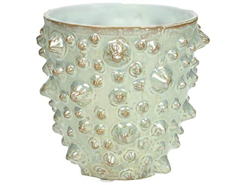 Vase - Keramik - Elfenbein - 11,5x11,5x11,5cm