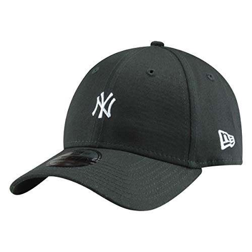 New Era 9Forty Unisex Damen Herren MLB League Essential/Brand Logo 940 Adjustable Cap Strapback Cap Baseball Cap mit 7kmh Aufkleber, OSFM, B1 NY Schwarz 8039