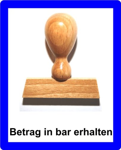 LE-ONs® Holzstempel Professional-Serie L53: Betrag in Bar erhalten