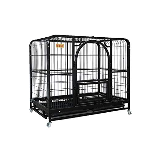 jaula perro Medio plegable interior de la jaula del animal doméstico con...
