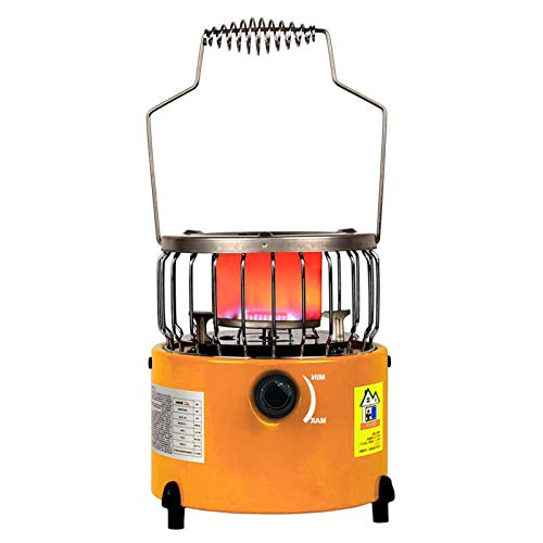ershixiong Estufa de camping, portátil de un solo quemador, cocina de gas portátil para camping o festivales, fácil manejo, calentador de habitación para tienda de campaña