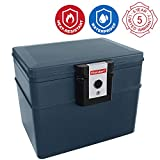 First Alert Fire chest 2037 Fire and water resistant Document Safe 17.5 Lit