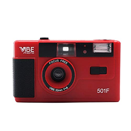 APROTII Cámara roja Vibe Photo 35mm Film Camera 501F – Incluye bolsa