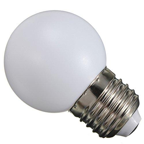 Générique Ampoule LED 220V E27 1W Balle de Golf Globe Lampe de 7 Couleurs Décor Maison Jardin-45x70mm - Blanc