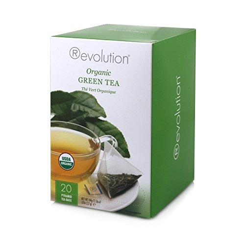 Revolution Tee Organic Green Tea, 20 Count