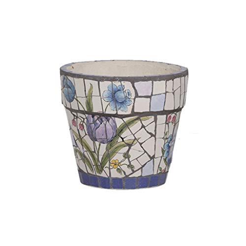 Kleine vaas Amerikaanse stijl keramische plant pot - bloem plant potten binnen met schoteltjes, kleine tot middelgrote ronde moderne keramische tuin bloem potten Decoratieve vaas