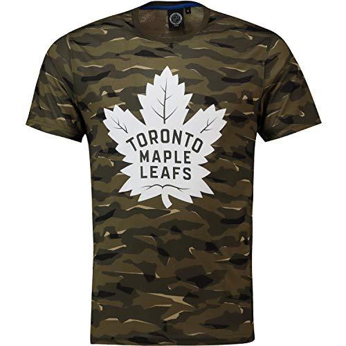 NHL T-Shirt Toronto Maple Leafs Digi Camo Camouflage Logo Eishockey (M)