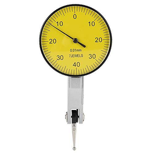Messuhr, 0,01 mm Präzisionshebel Messuhr für Messungen während der Bearbeitung, des Aufbaus und der Inspektion