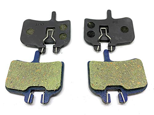 Hardheaded Ram 2 Bike Brake Pads Organic for Hayes HFX-9, Mag, HMX-1, Promax, HFX, Imperial DX04 Hydraulic, G2 .The Bicycle Replacement Part for OEM Brakes for high Braking Power and Quiet Stops.