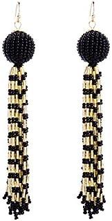 Long style Bead Tassel Earring for women