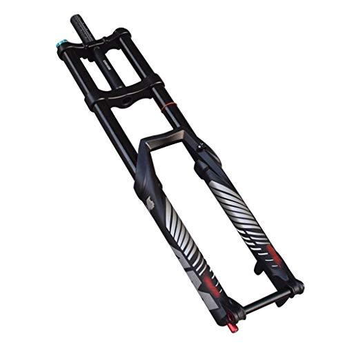 ZNND Federgabel Doppelschulter Gabel Bucket Shaft 27,5 Zoll Mountainbike Downhill Vorderradgabel 29 Zoll Fahrrad Damping (Size : 27.5inch)