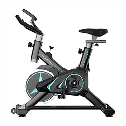 CGBF-Bicicleta Estática con Sensores De Pulso Monitor LCD,Bicicletas Fijas Bicicleta De Fitness con Soporte Y Cómodo Cojín De Asiento,Inicio Gimnasio Entrenamiento Bicicletas De Ciclismo