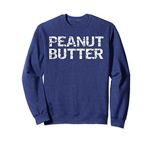 Situen Happy Halloween C.ostume for Couple La.zy Jelly & P.eanut Butter Sweatshirt - Front Print Sweatshirt for Men and Women