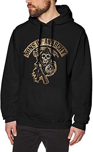 YeeATZ Sons of Anarchy - Sudadera con capucha, color negro