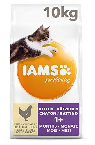 IAMS for Vitality Junior Katzenfutter trocken für junge Katzen mit frischem Huhn 10kg