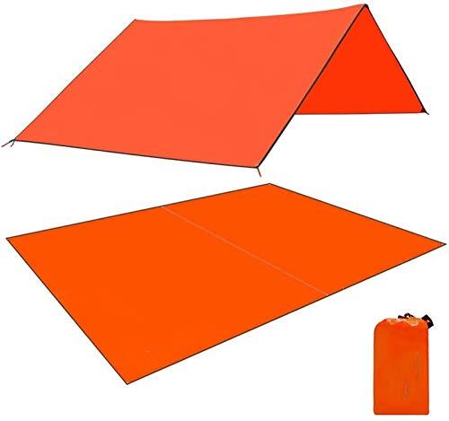 ピクニックマット ラージオックスフォードテントの防水キャンプのマットの超軽量のフットプリントグランドシートキャノピーマットのための屋外のハイキングピクニック ナイロン (Color : Orange)