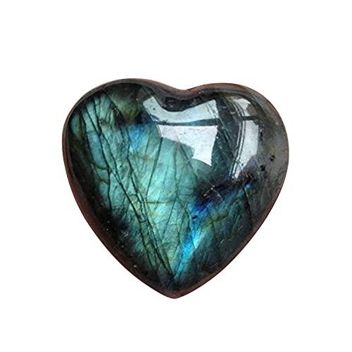 W.Z.H.H.H Crystal Rau Multicolour Labradorite Palm Stein Heilung Liebe Anhänger Geschenk Mineral Schmuck Cabochon Herz Form Edelstein Heilende Kristalle