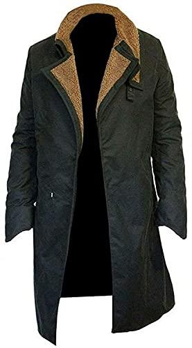 Blade Runner 2049 Officer K Rayan Gosling solapa cuello de piel trinchera largo abrigo de algodón, Como en las imágenes., XXX-Large