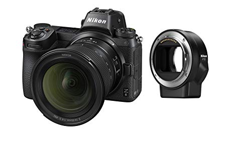 Nikon Z 6 Kit 14-30 mm 1:4 S Systeemcamera met FTZ Objectiefadapter, 24,5MP, 8 cm Scherm, 4K UHD Video, Wi-Fi, Bluetooth, Zwart