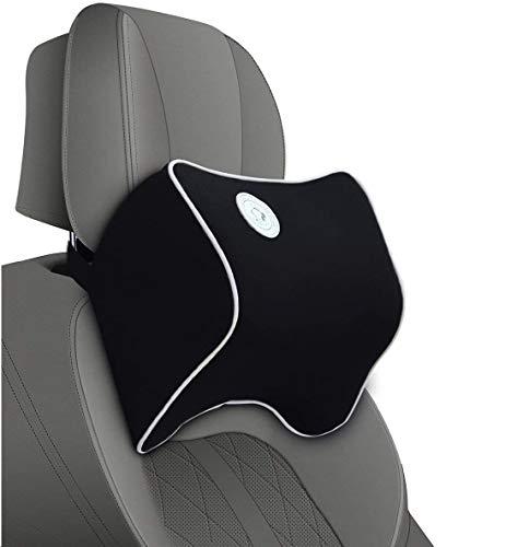 Nackenkissen für Autositz-Nackenstütze zur Linderung von Nackenschmerzen,Polster,Reisekissen aus Memory-Foam-Geeignet für Fahren/Büro/Zuhause,Lebensdauer mehr als 5 Jahre (Schwarz)FLY OCEAN