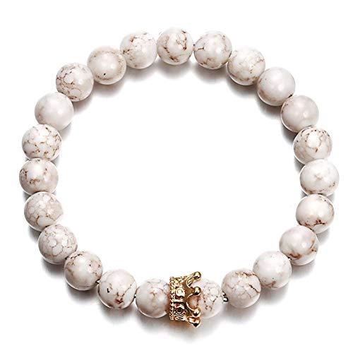 DMUEZW persoonlijkheid armband voor vrouwen of mannen trendy sieraden vulkanische steen legering kroon vintage armband cadeau