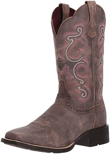 Ariat Women's Quickdraw Work Boot, Tack Room Chocolate,...