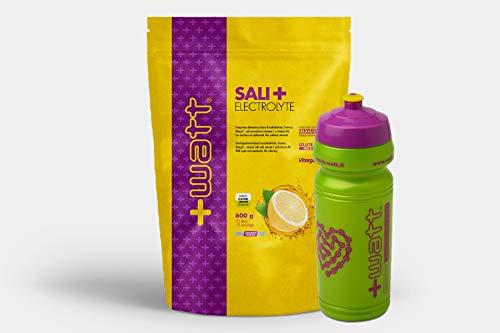 +Watt Sali+ Electrolyte - Doypack Da 600g + Borraccia (Limone)