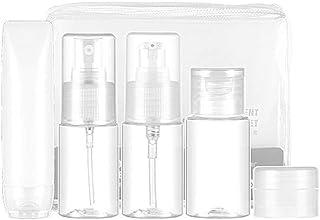 XIAKE travel bottles set, 5Pcs 30ML Transparent Cosmetic Bottles & Accessories for Liquid Sample Travel Packaging