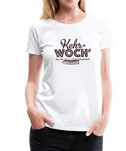 Schwoba Kehrwoch' Since 1714 Schwaben Frauen Premium T-Shirt, S, Grau meliert