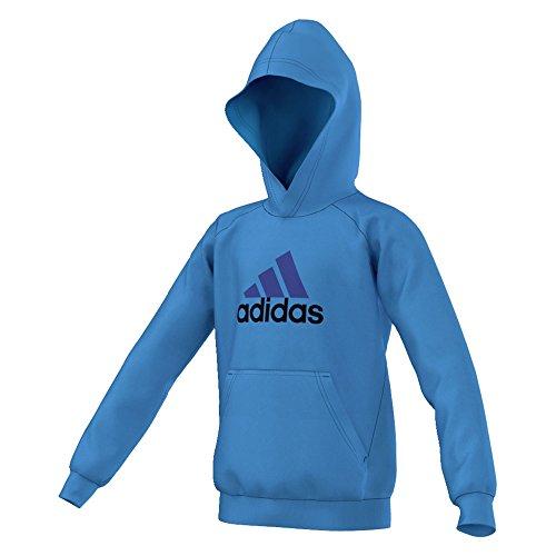 adidas YB ESS Hoddy Boy's Sweatshirt Mehrfarbig blau/violett Size 128