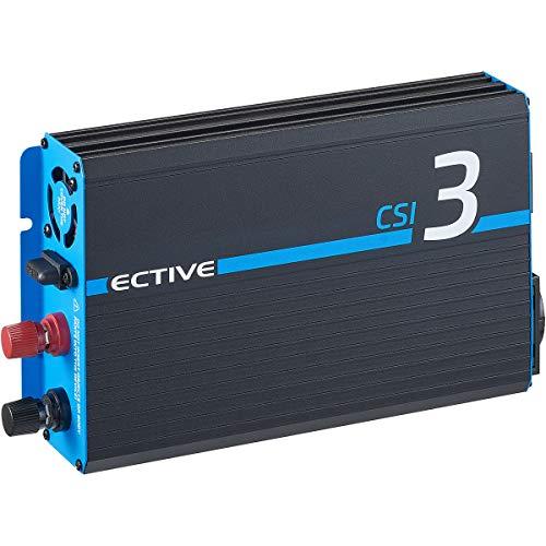 ECTIVE 300W 12V zu 230V Reiner Sinus-Wechselrichter CSI 3 mit Batterie-Ladegerät, NVS- und USV-Funktion