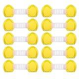 10 Teile/los Baby Sicherheit Protector Kind Schrankverriegelung Kunststoffschloss Schutz der Kinder Von Türen Schubladen, gelb 10 cm