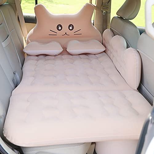 GELEI, materasso da campeggio per auto, con pompa ad aria, superficie floccante, portatile, per viaggi, campeggio, versione aggiornata, grigio
