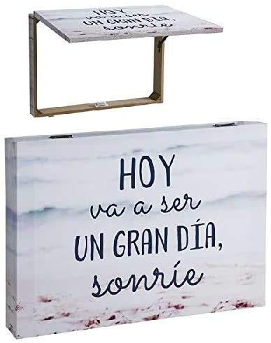 TIENDA EURASIA® Tapa Contador Sonríe Decorativas de Ventana Muebles Pegatinas Decoración del hogar - Frase Original Hoy va ser un Gran Dia sonrie