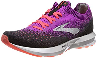 Brooks Women's Levitate 2 Running Shoes, Purple Purple Fierycoral Black 596, 7.5 UK