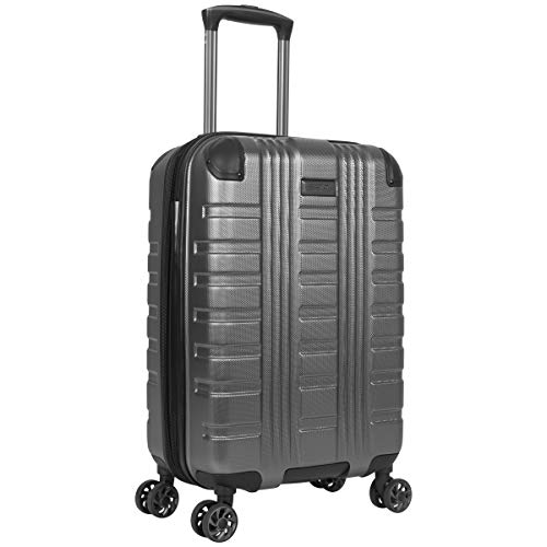 Kenneth Cole Reaction Scott's Corner 20' Carry-On Hardside Expandable 8-Wheel Spinner TSA Lock Cabin Size Travel Suitcase, Charcoal