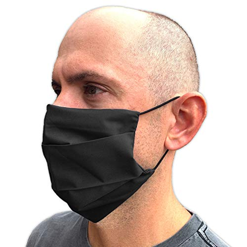 Extra Large Face Mask with Nose Wire - Mens Face Mask with Adjustable Elastic & Filter Pocket- Washable & Reusable
